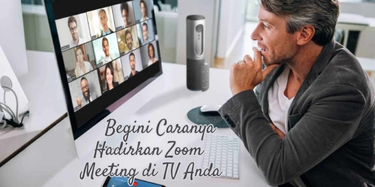 sambungkan zoom meeting ke televisi